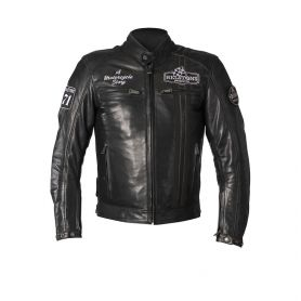 HELSTONS JACKET INDY LEATHER RAG BLACK-BLACK
