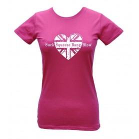 Tee-Shirts Femmes OILY RAG CŒUR SUCK SQUEEZE BANG BLOW OILY RAG TEE SHIRT ROSE FEMME IM-OR-65L-PK