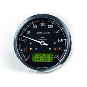 Compteurs MOTOGADGET COMPTEUR MOTOGADGET CHRONOCLASSIC GREEN - NOIR - INOX 2004080