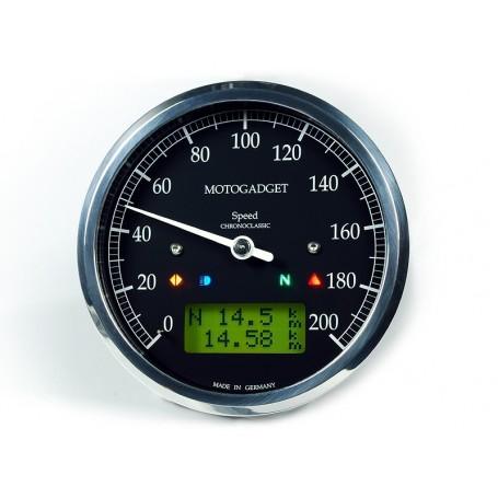 Counters MOTOGADGET COMPTEUR MOTOGADGET CHRONOCLASSIC GREEN - NOIR - INOX 2004080