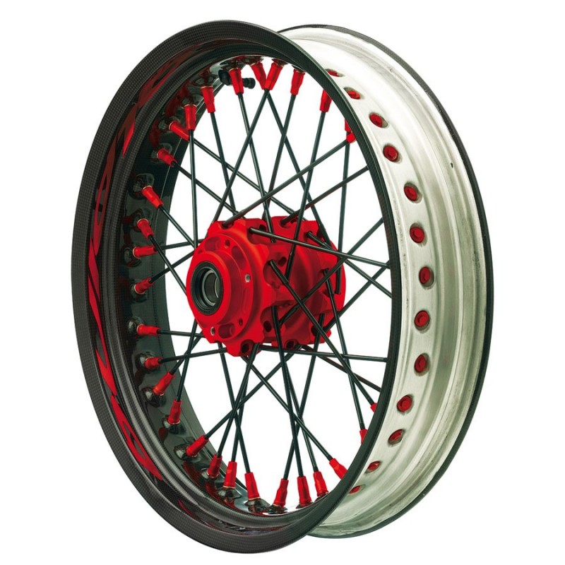 Roues ALPINA ALPINA ROUES AV A RAYONS CERCLAGE CARBONE TUBELESS 3.5 X 17 IM-TB502