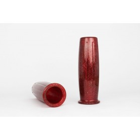 Throttles BLVD.966 POIGNEES POSH ROUGE METAL FLAKE 1 pouce 25.4mm BLVD.966 POSH-1P-RED