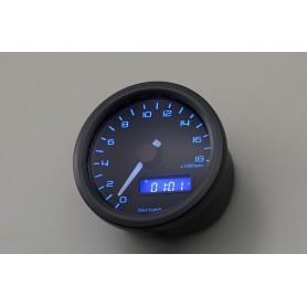 Tachometers DAYTONA DAYTONA COMPTE TOUR VELONA NOIR A LED FOND BLEU 18 000 TR / MIN 86862
