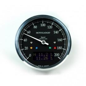 Compteurs MOTOGADGET COMPTEUR MOTOGADGET CHRONOCLASSIC DARK - NOIR - INOX 2004081