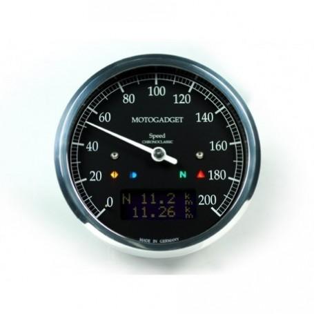 Counters MOTOGADGET COMPTEUR MOTOGADGET CHRONOCLASSIC DARK - NOIR - INOX 2004081