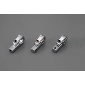 Supports Compteurs DAYTONA DAYTONA SUPPORT COMPTEURS ET RETRO CHROME POUR GUIDON 22MM. M8 B 68453