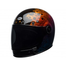 Casques BELL CASQUE BELL BULLITT SE HART LUCK GLOSS METALLIC BUBBLES 7092567