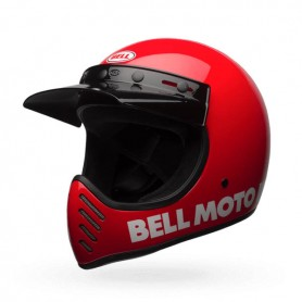 Casques BELL CASQUE BELL MOTO-3 CLASSIC ROUGE 7081033