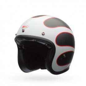 Casques BELL CASQUE BELL CUSTOM 500 CARBON ACE CAFE NOIR/BLANC 7081011