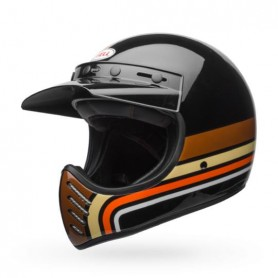 Casques BELL CASQUE BELL MOTO-3 Stripes Black/Orange 7086350