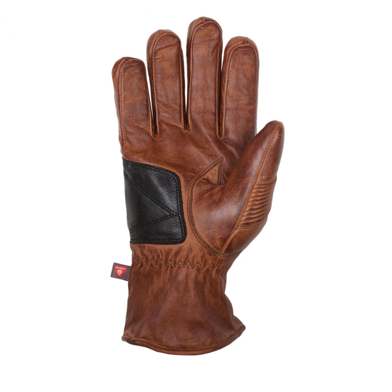 Gants helstons brod hiver cuir crust camel noir gants for Garage 4 fois sans frais 77