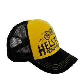 Casquettes HELSTONS HELSTONS CASQUETTE TRUCKER FILET CAFE RACER JAUNE-NOIR-NOIR 20160171